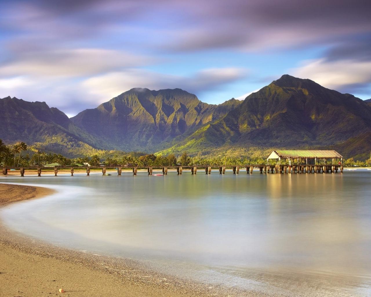 Montañas y playas - 1280x1024