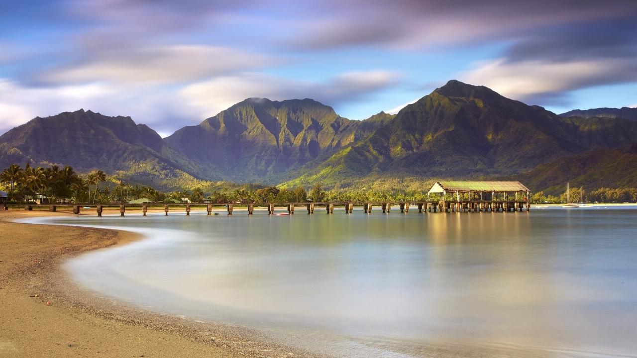 Montañas y playas - 1280x720