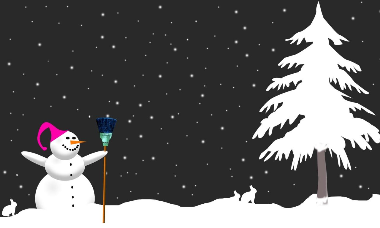 Muñeco de nieve - 1280x768