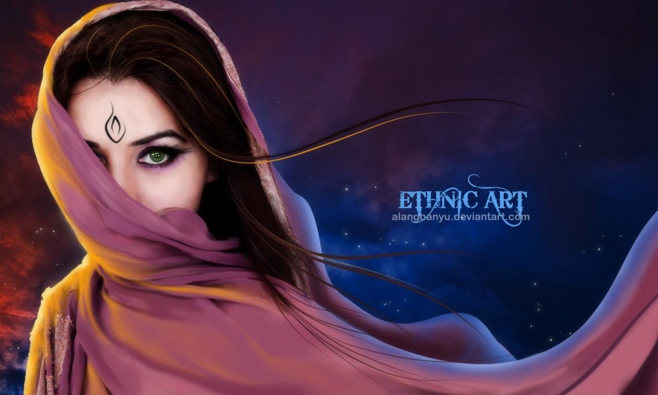 Mujer árabe hermosa - 1280x768