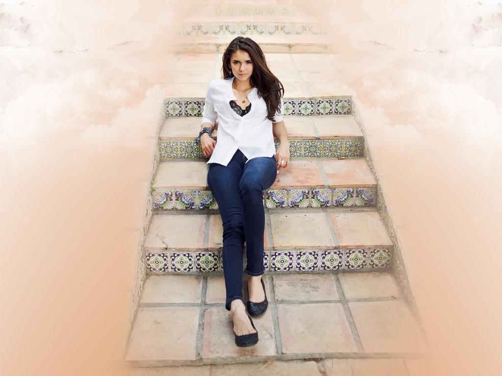 Nina Dobrev fashion - 1024x768