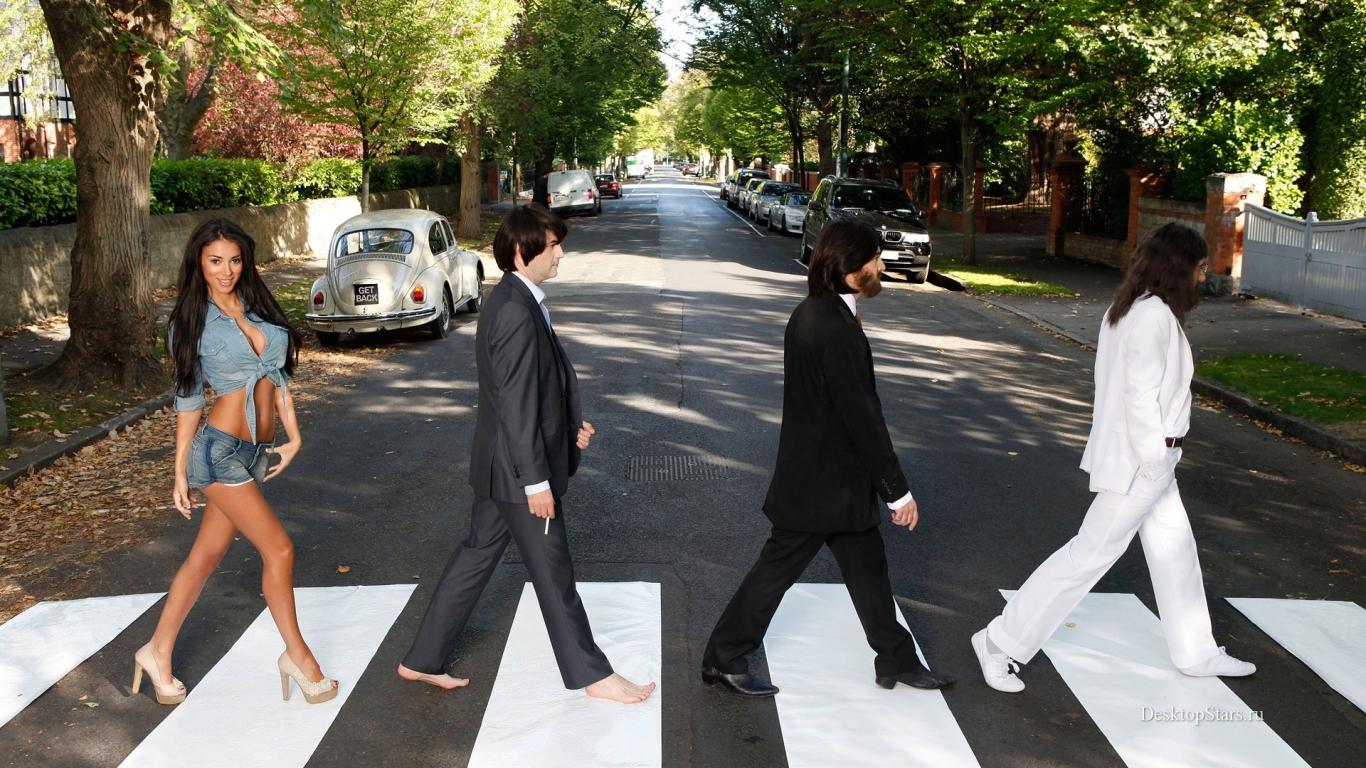 Parodia de Los Beatles en la pista - 1366x768