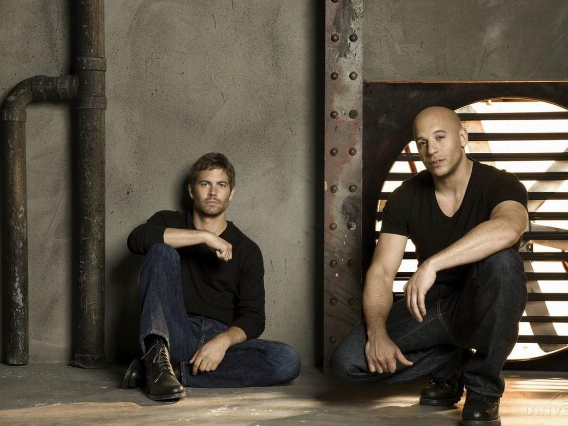 Paul Walker y Vin Diesel - 1152x864