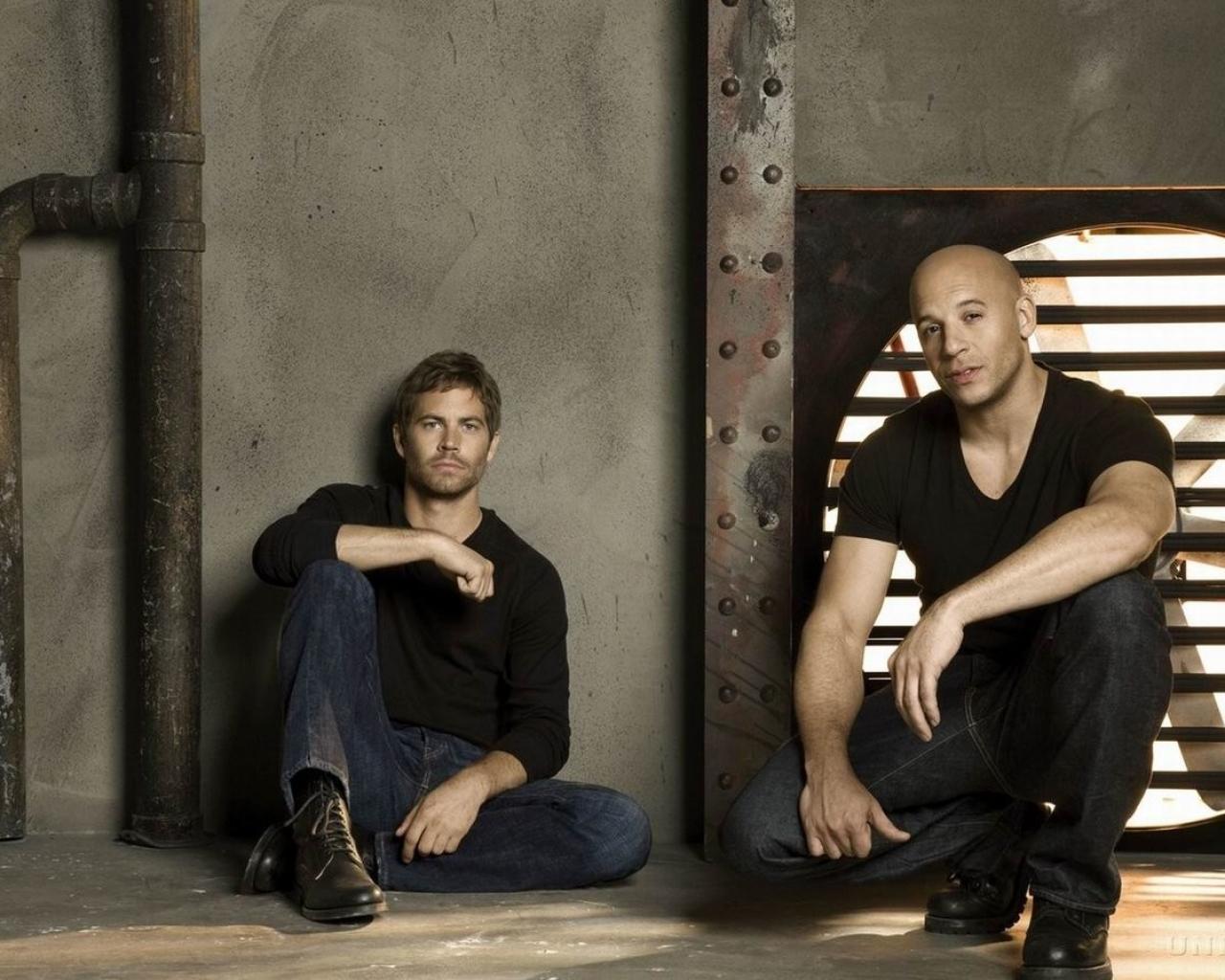 Paul Walker y Vin Diesel - 1280x1024