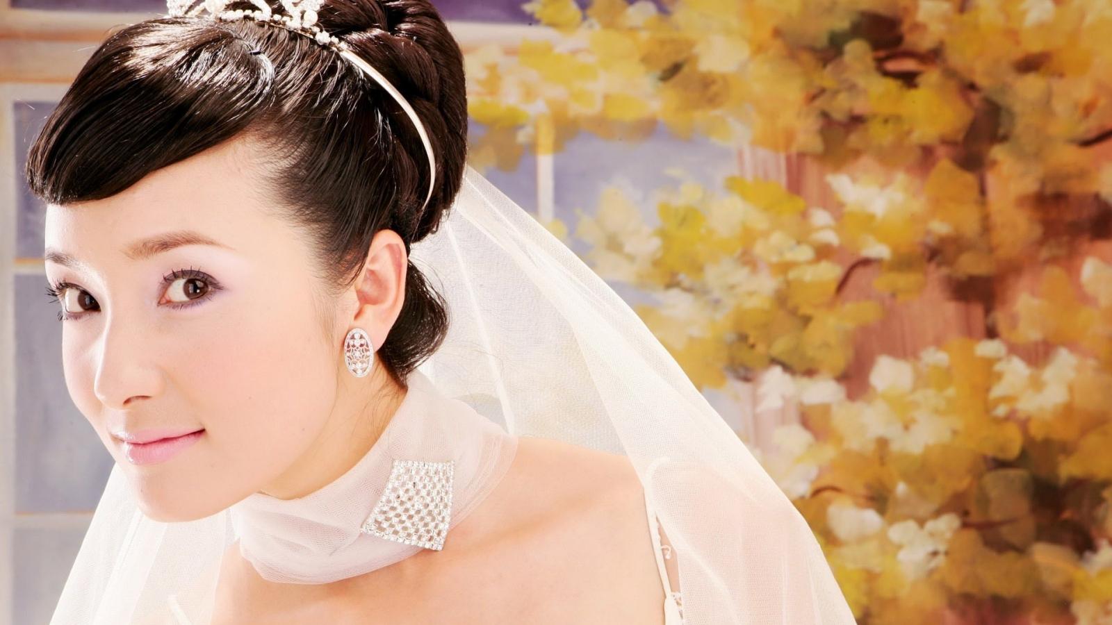 Peinado de novia asiática - 1600x900