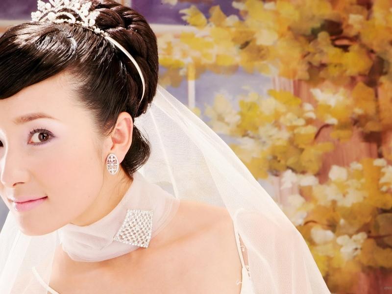 Peinado de novia asiática - 800x600