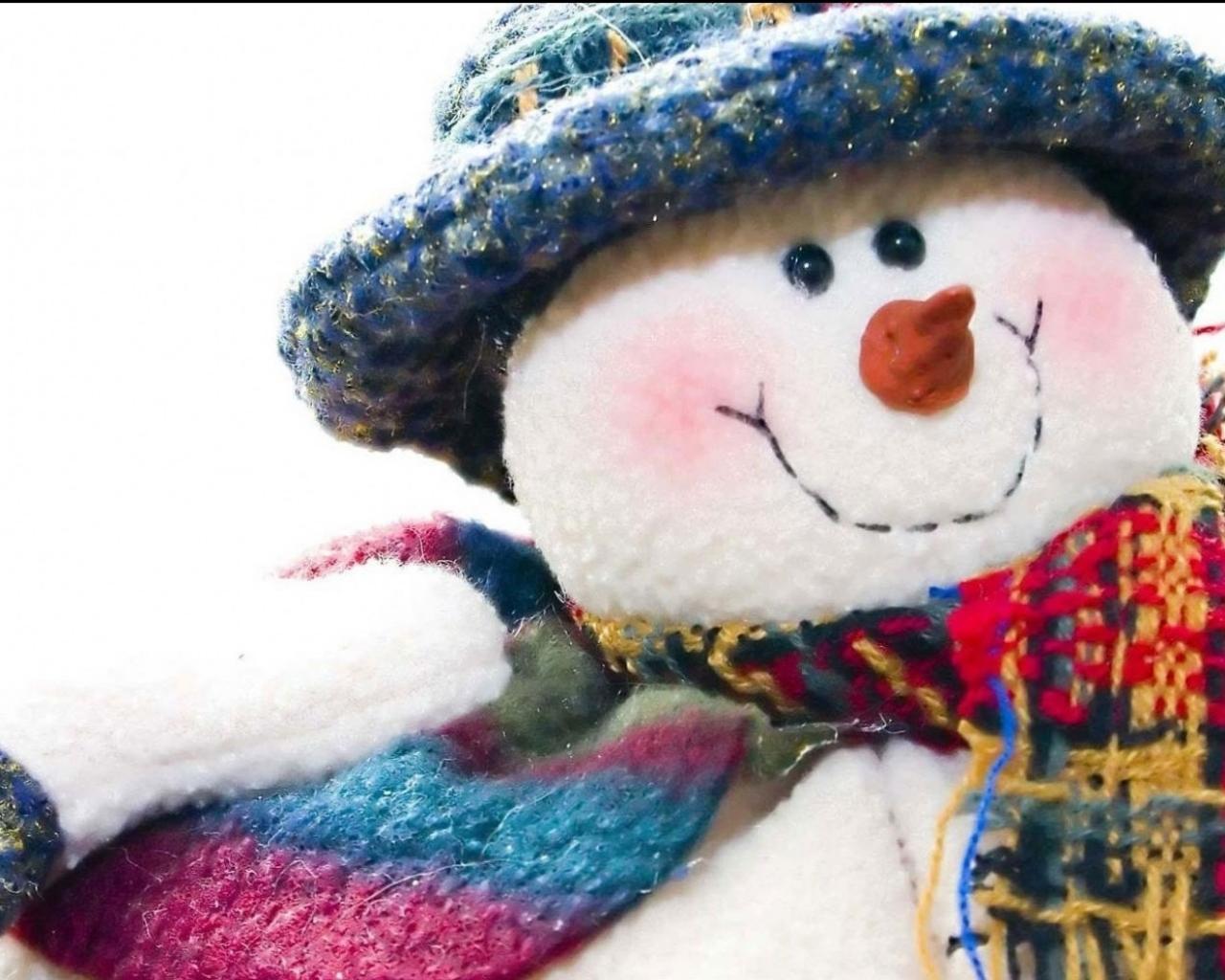 Peluche de hombre las nieves - 1280x1024