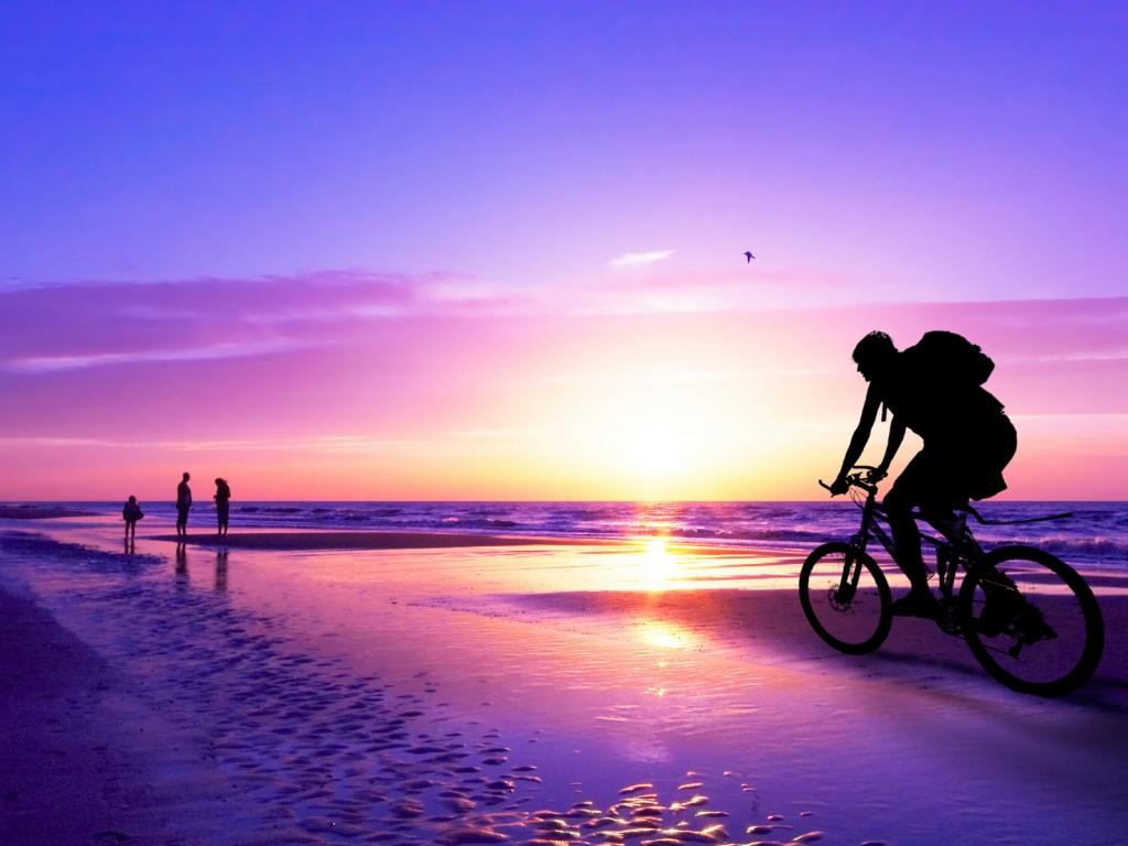 Recorriendo en bicicleta - 1024x768
