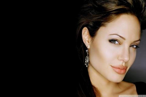 Rostro de Angelina Jolie - 480x320