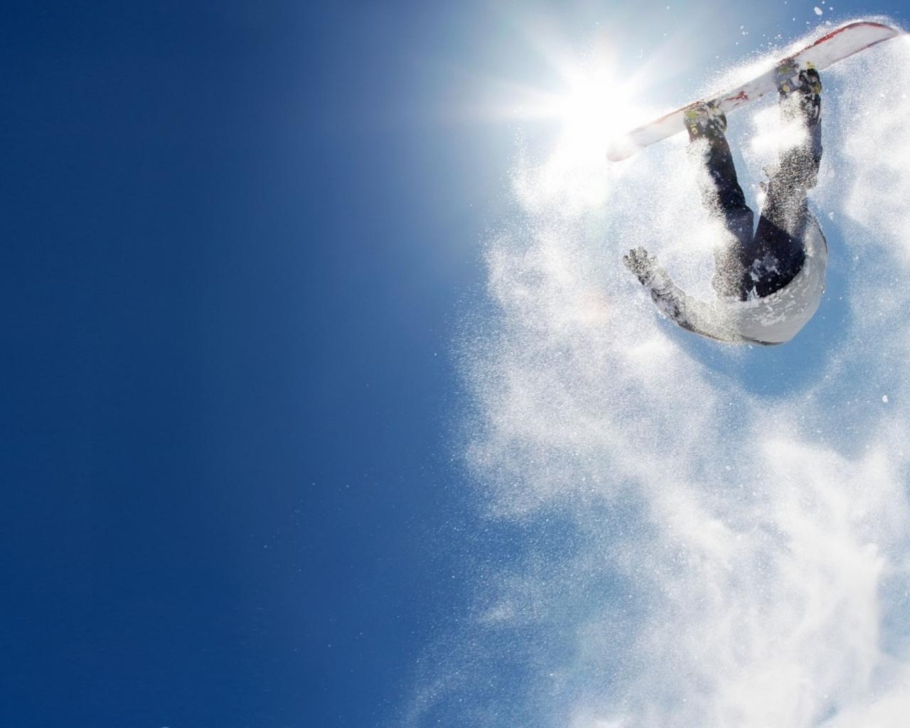 Salto sobre las nieves - 1280x1024