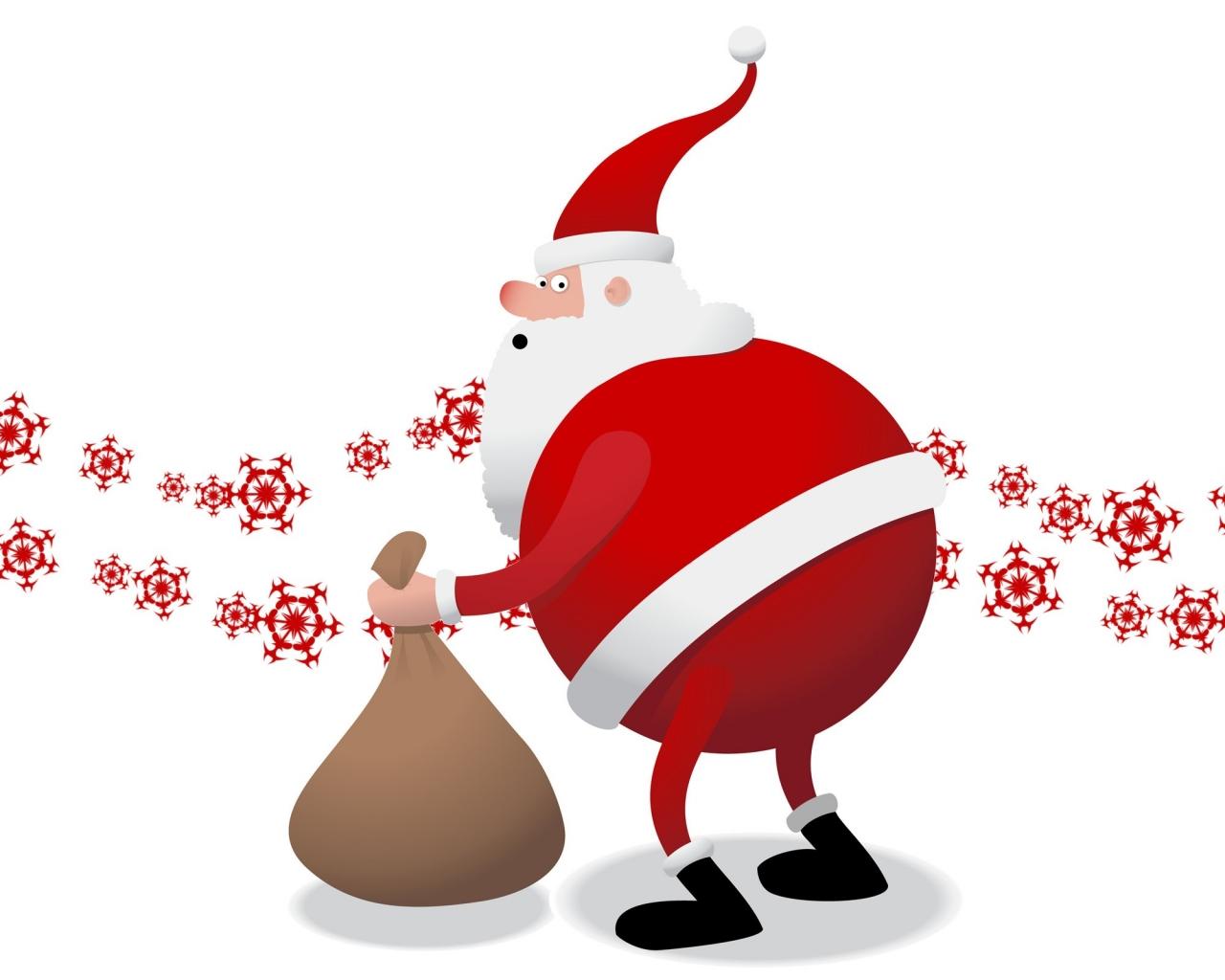 Santa Claus el gordo - 1280x1024