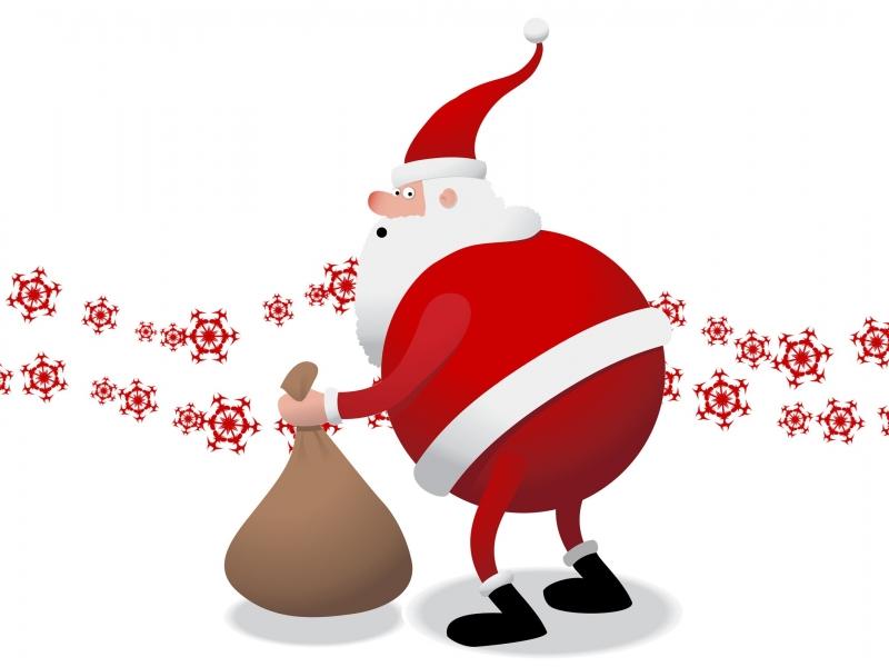 Santa Claus el gordo - 800x600