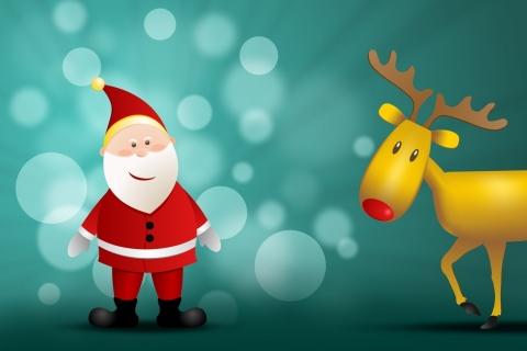 Santa Claus y su reno - 480x320