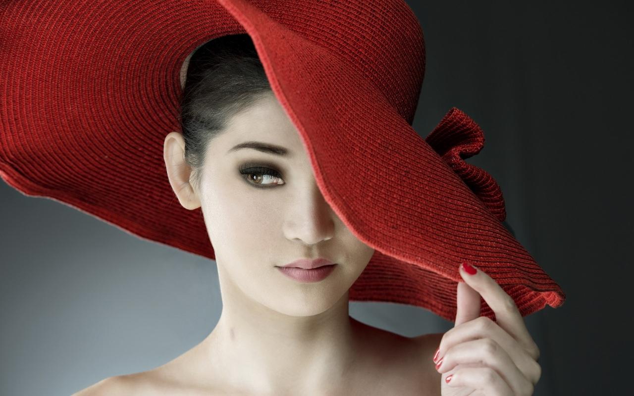 Sombrero rojo de paja - 1280x800