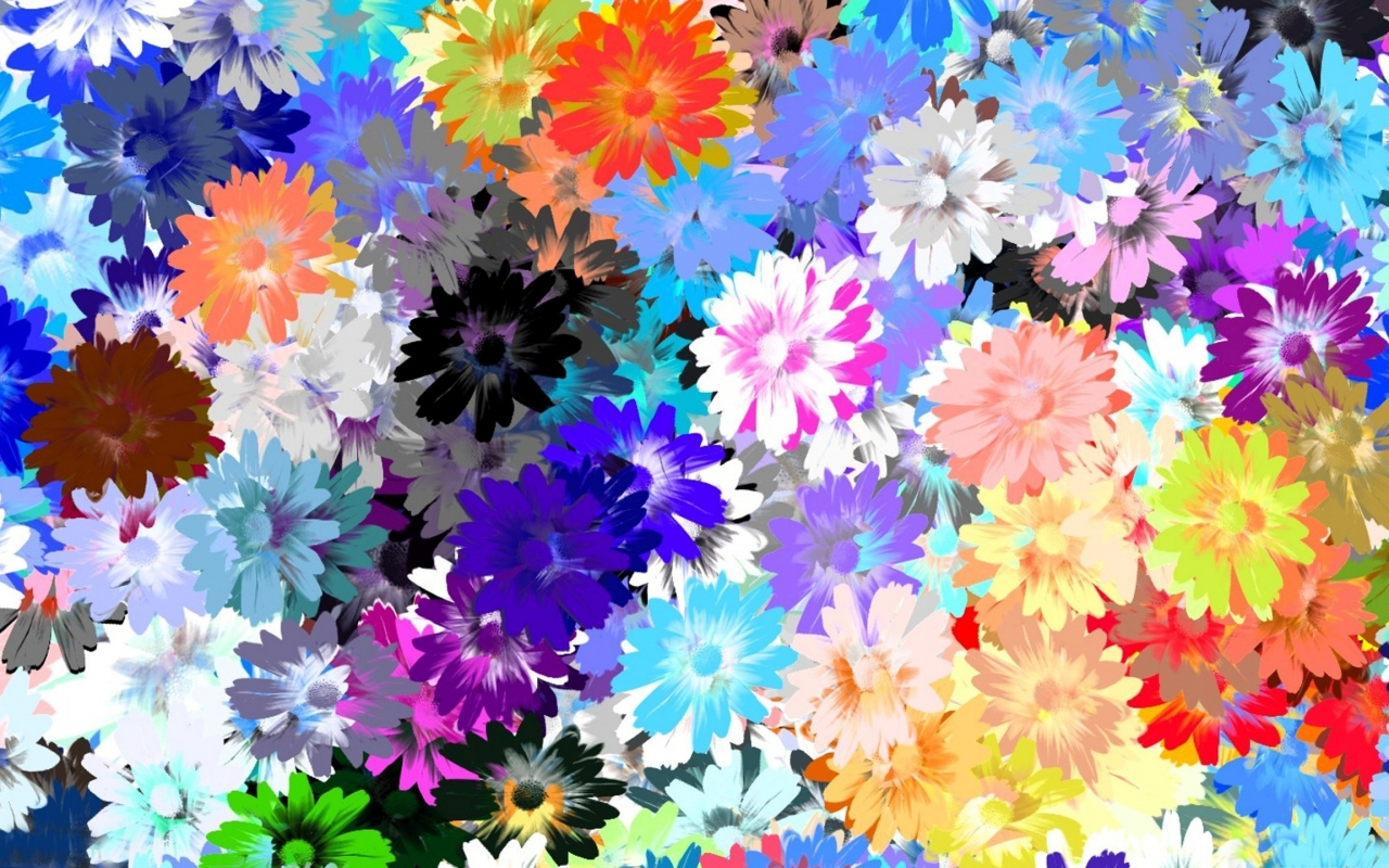 Textura de flores - 1280x800