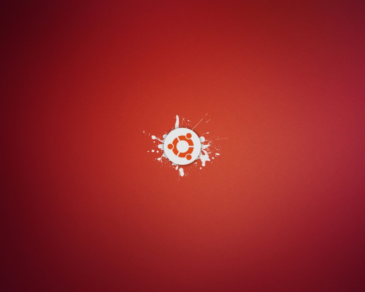 Ubuntu abstracto rojo - 1280x1024
