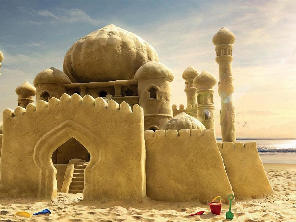 Un castillo de arena - 1024x768