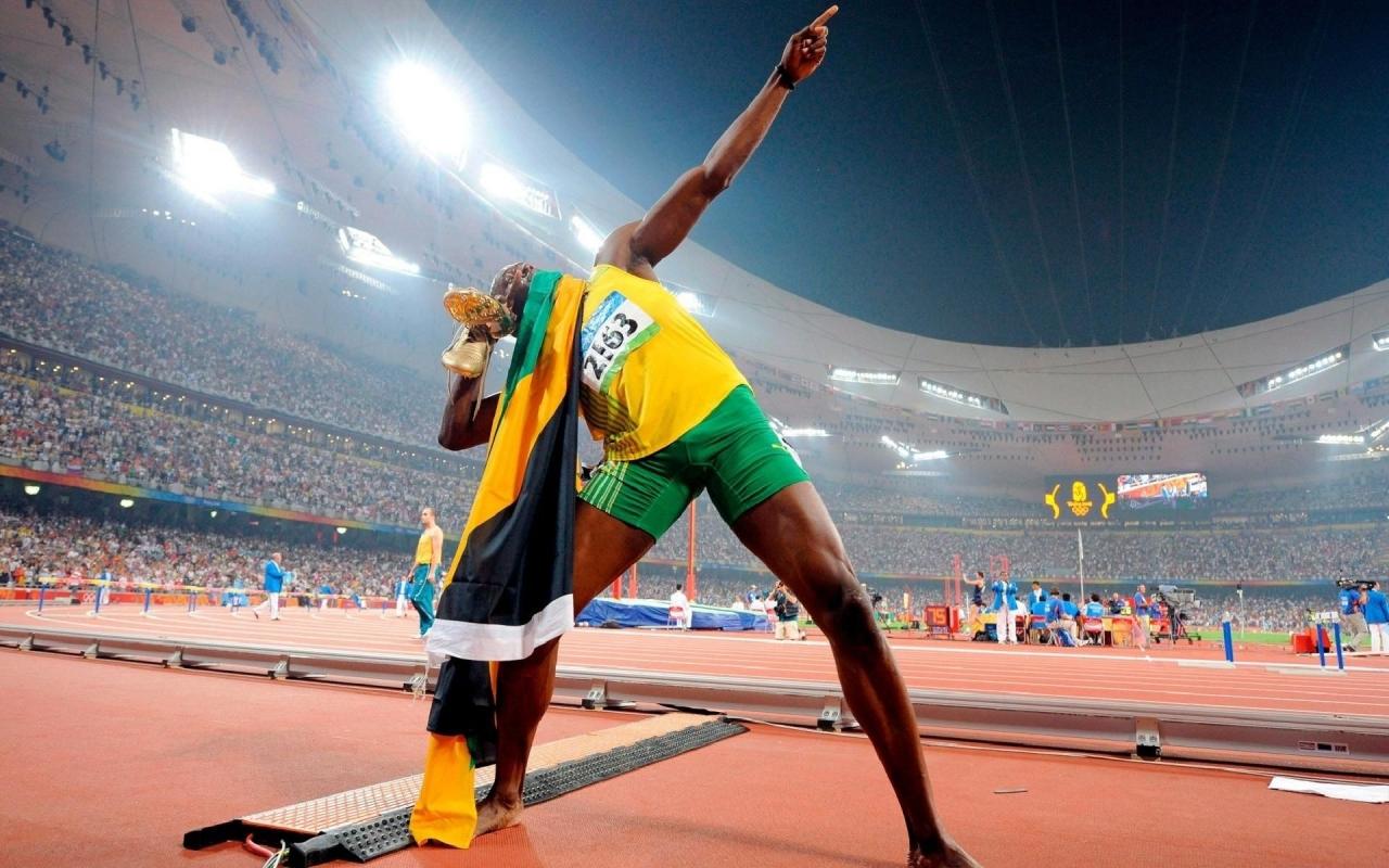 Usain Bolt en los juegos - 1280x800