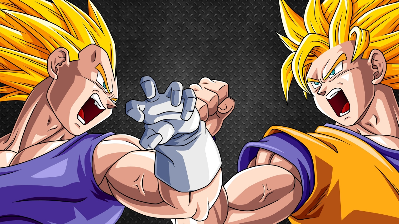 Vegeta y Goku - 1280x720