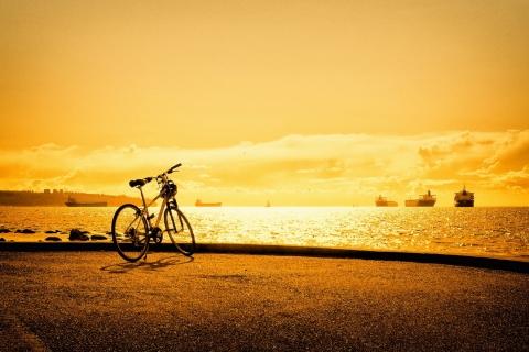 Atardecer en la playa y bici - 480x320