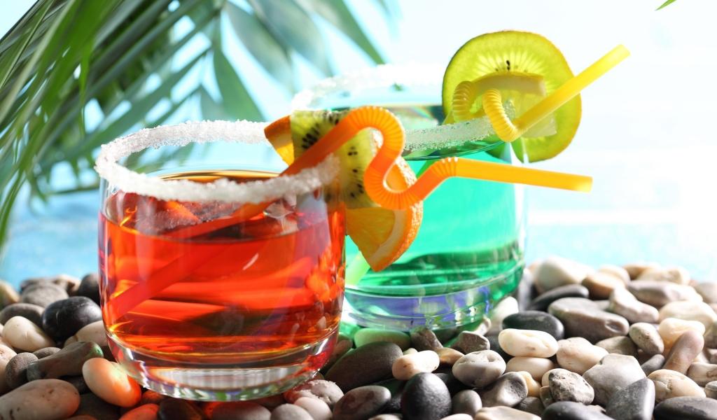 Bebidas y cocteles de colores - 1024x600