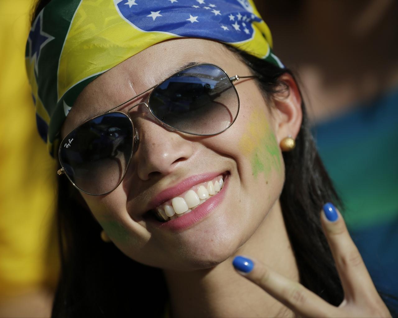 Bellas Brasileñas en el Mundial - 1280x1024