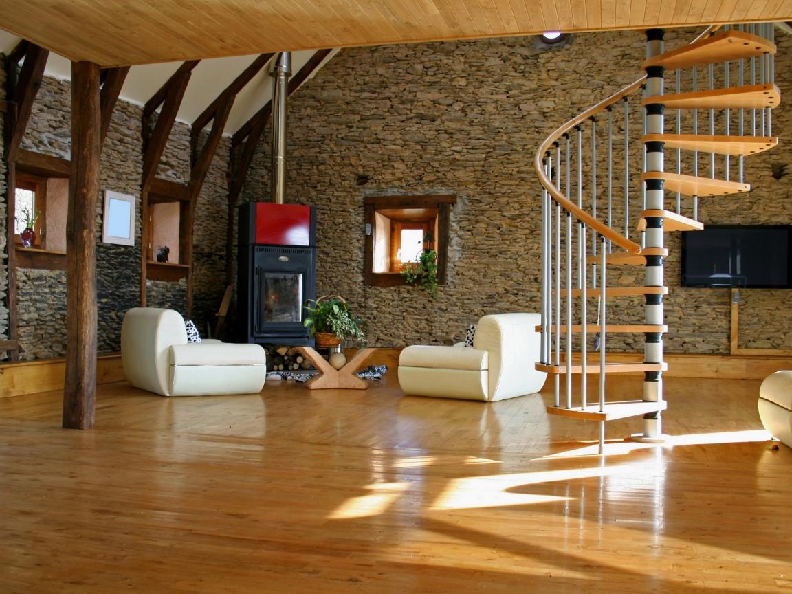 Bellos acabados interiores de casas - 1152x864