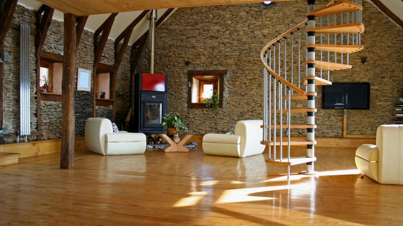 Bellos acabados interiores de casas - 1366x768