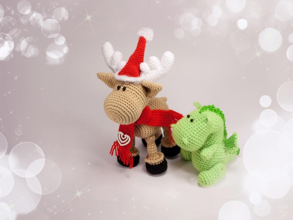 Bellos adornos tejidos para navidad - 1024x768