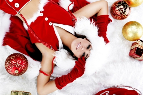 Chicas lindas con regalos para navidad - 480x320