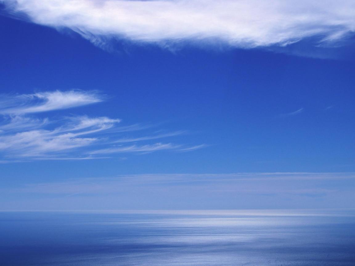 Cielo azul en el horizonte - 1152x864