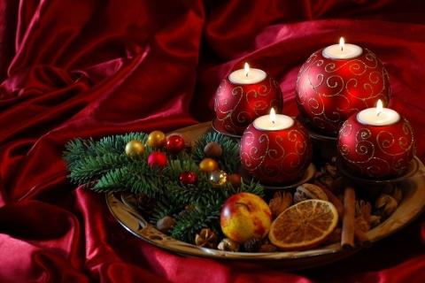 Decoracion de velas para navidad - 480x320