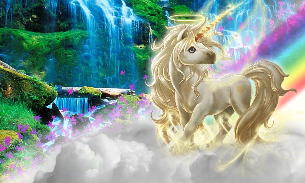 Dibujo de un unicornio - 1000x600