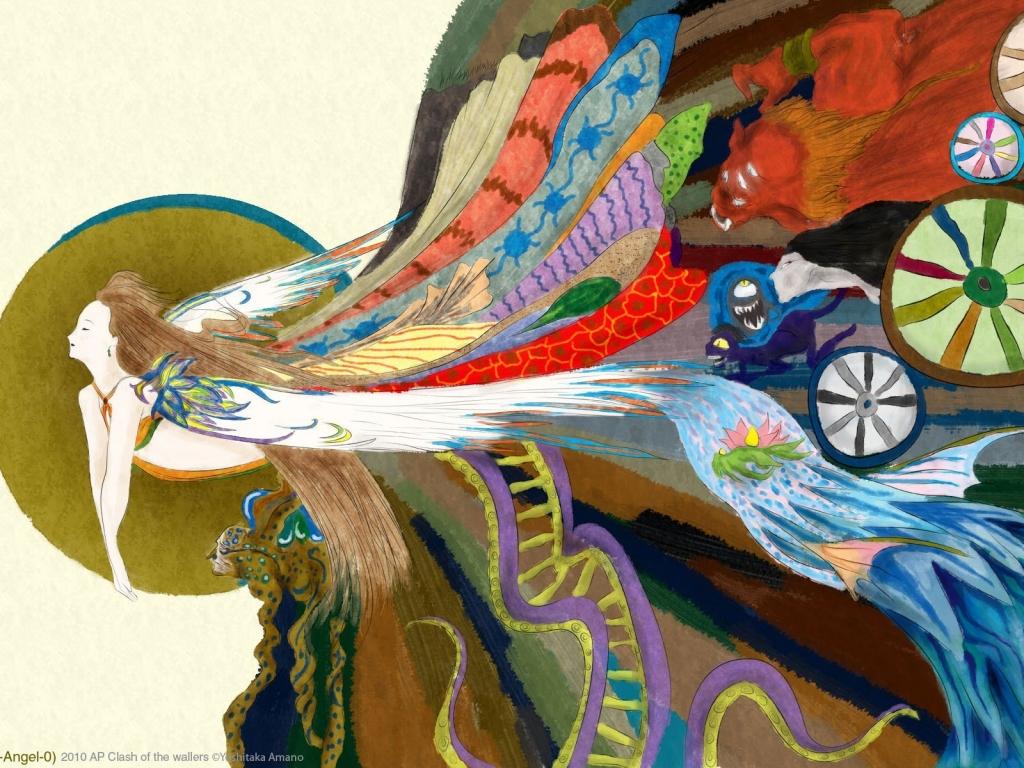 Dibujos coloridos japoneses - 1024x768