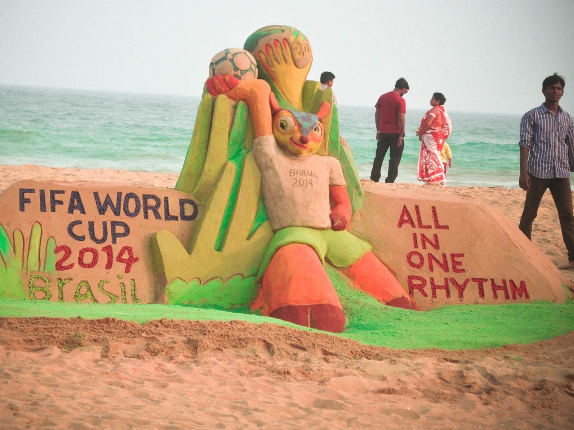 Escultura del Mundial Brasil 2014 - 1152x864