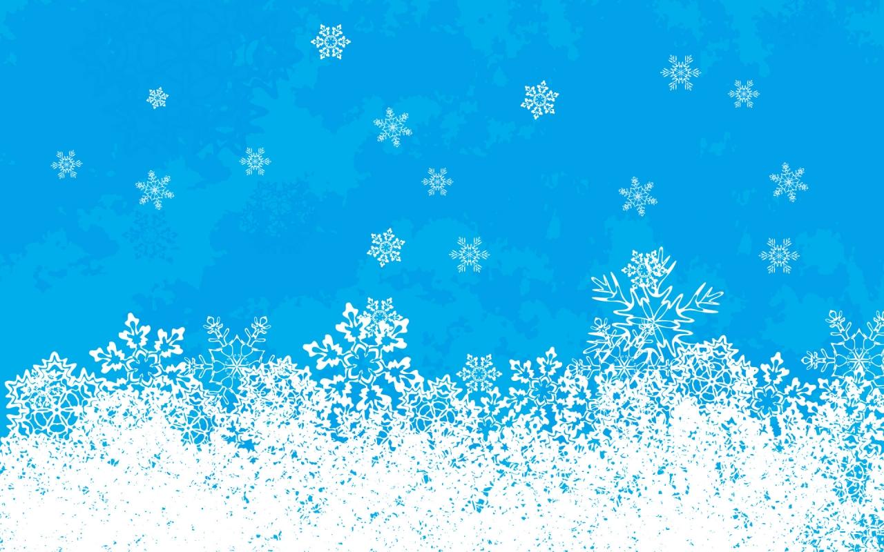 Fondo celeste con nieve en navidad - 1280x800