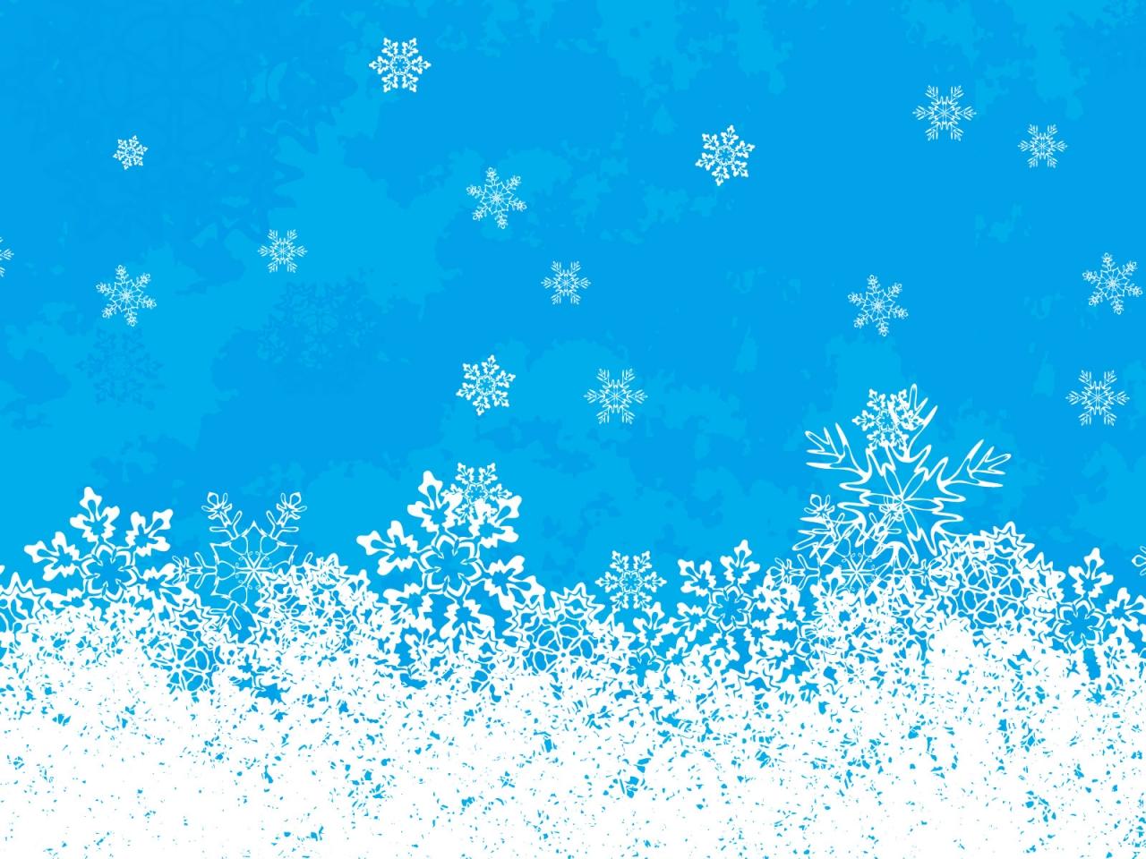 Fondo celeste con nieve en navidad - 1280x960