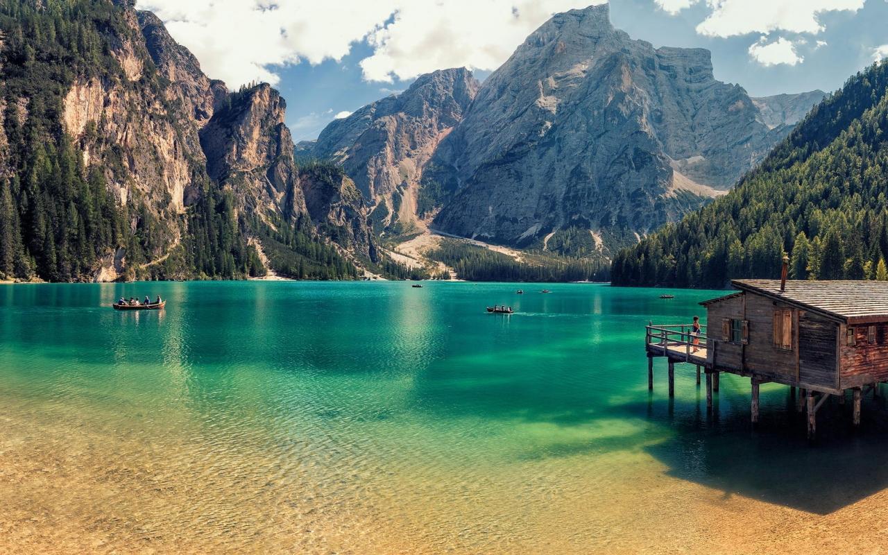 Lago Di Braies de Italia - 1280x800