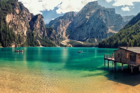 Lago Di Braies de Italia - 480x320