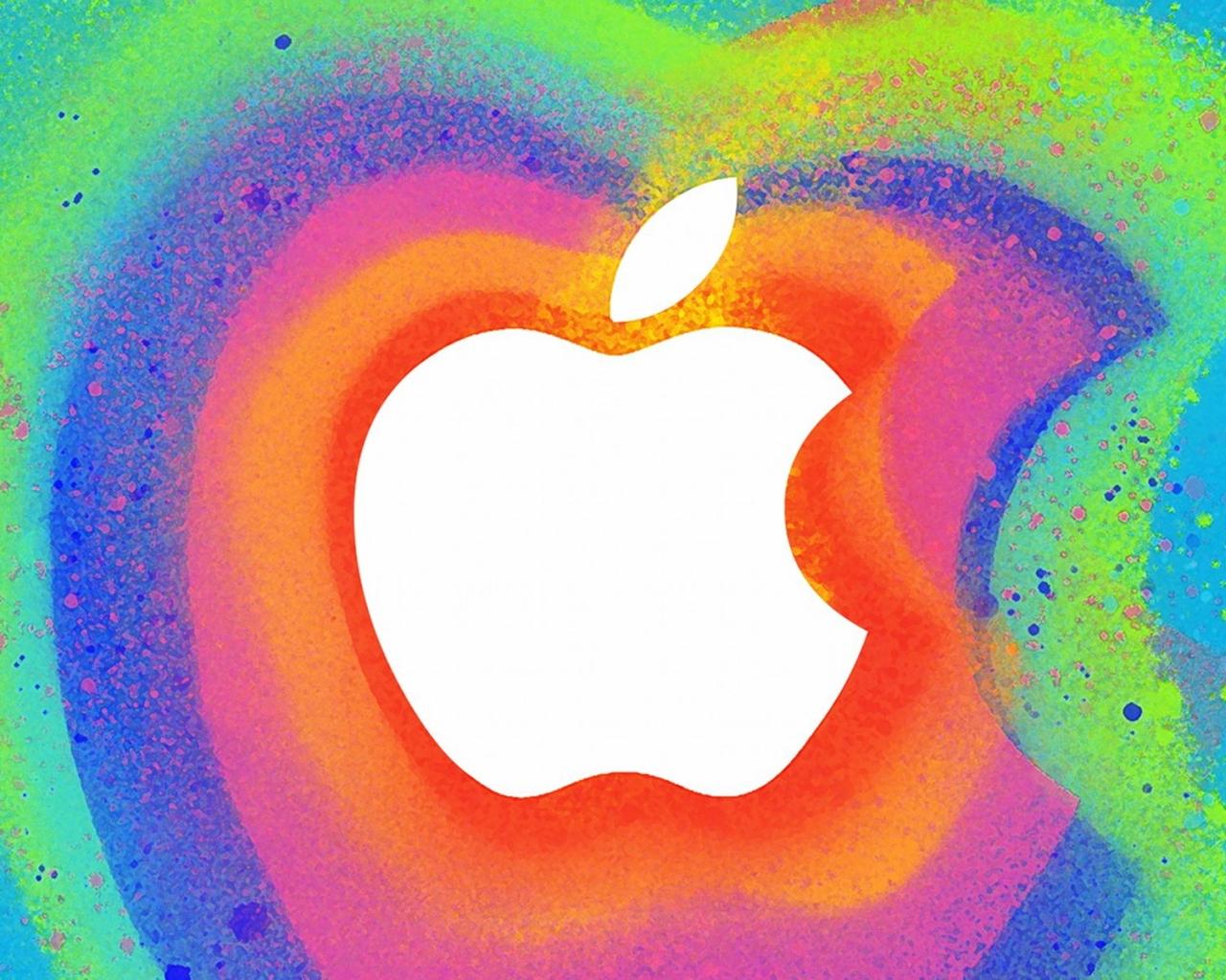 Manzana en colores - 1280x1024