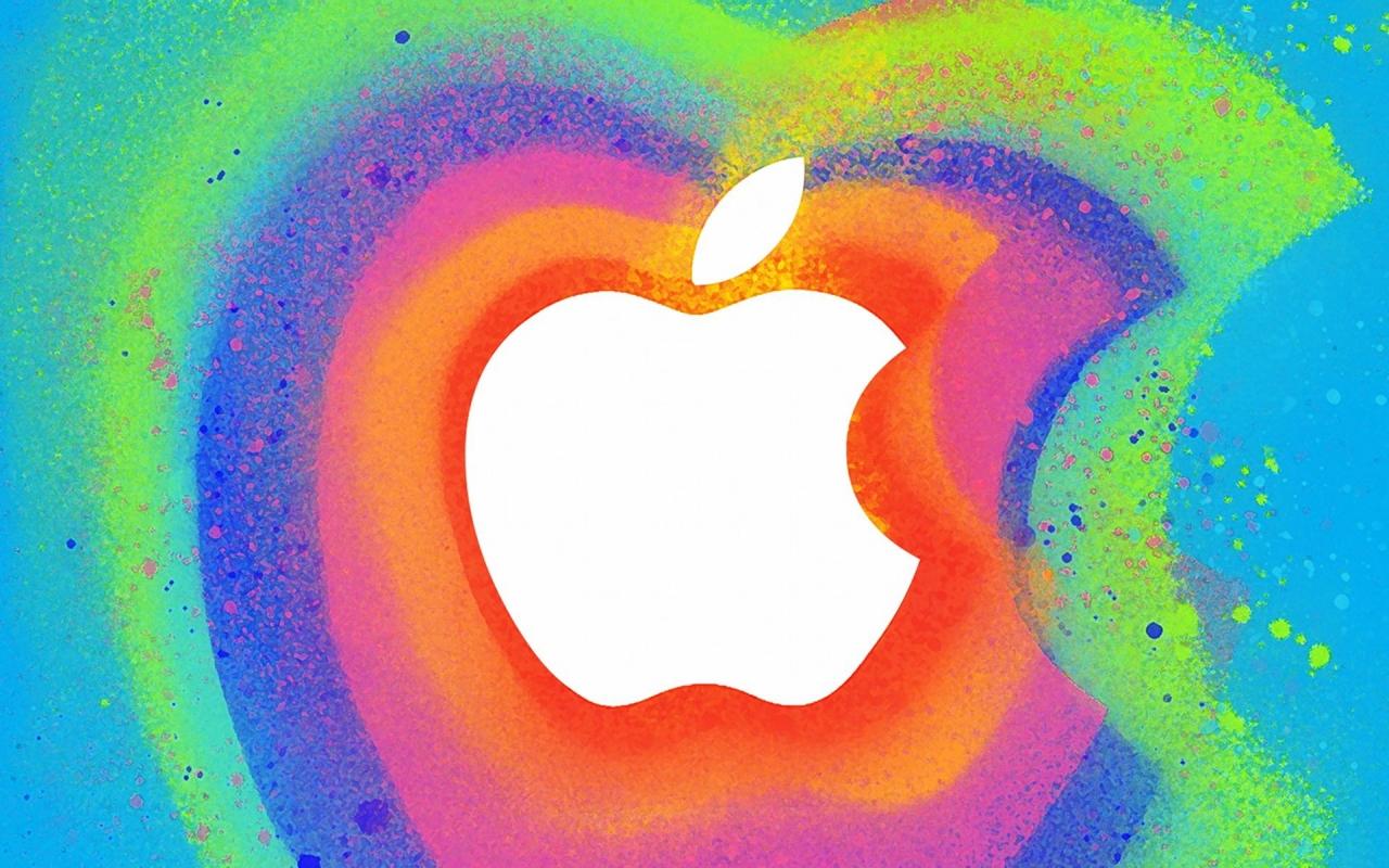 Manzana en colores - 1280x800