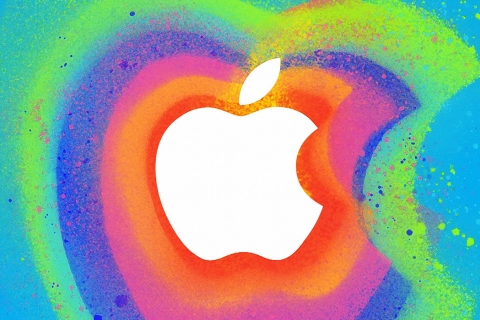 Manzana en colores - 480x320