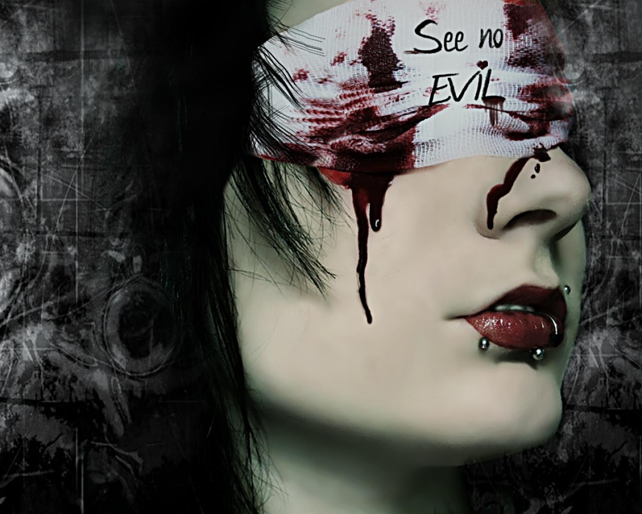 Mujer sangrando - 1280x1024