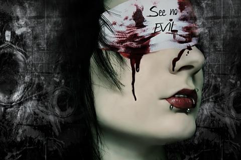 Mujer sangrando - 480x320