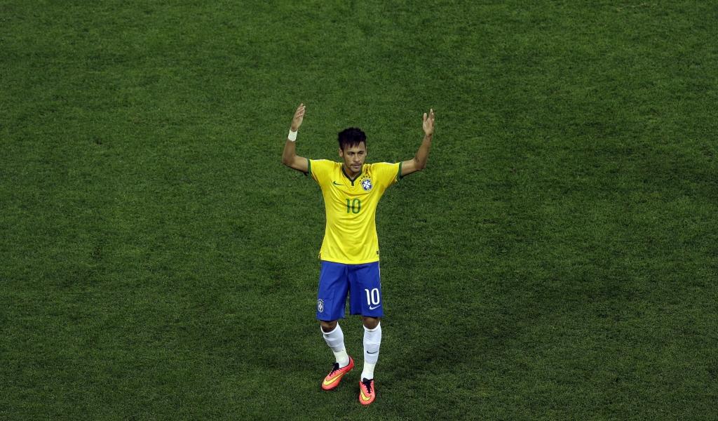 Neymar con la camiseta de Brasil - 1024x600