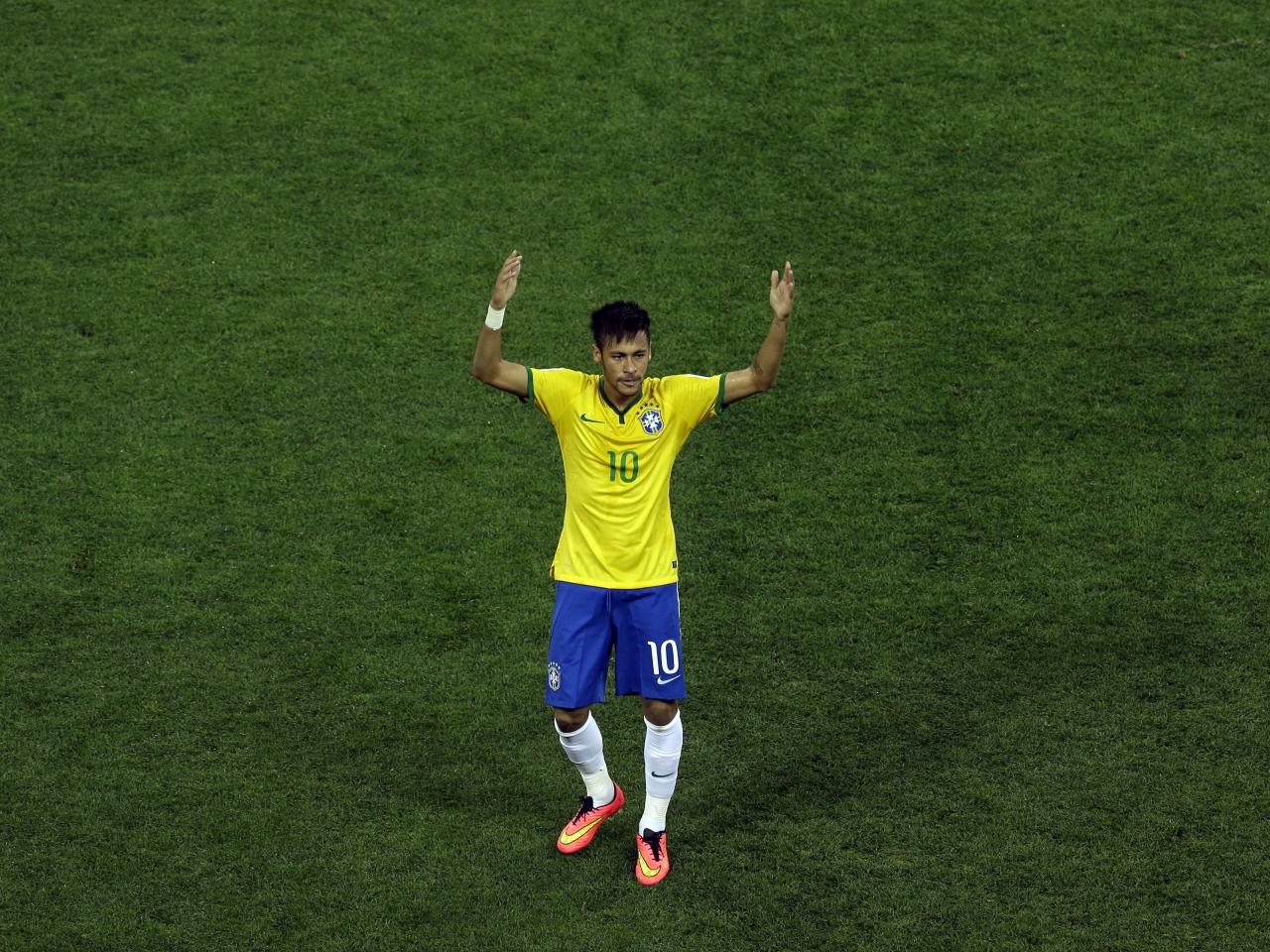 Neymar con la camiseta de Brasil - 1280x960