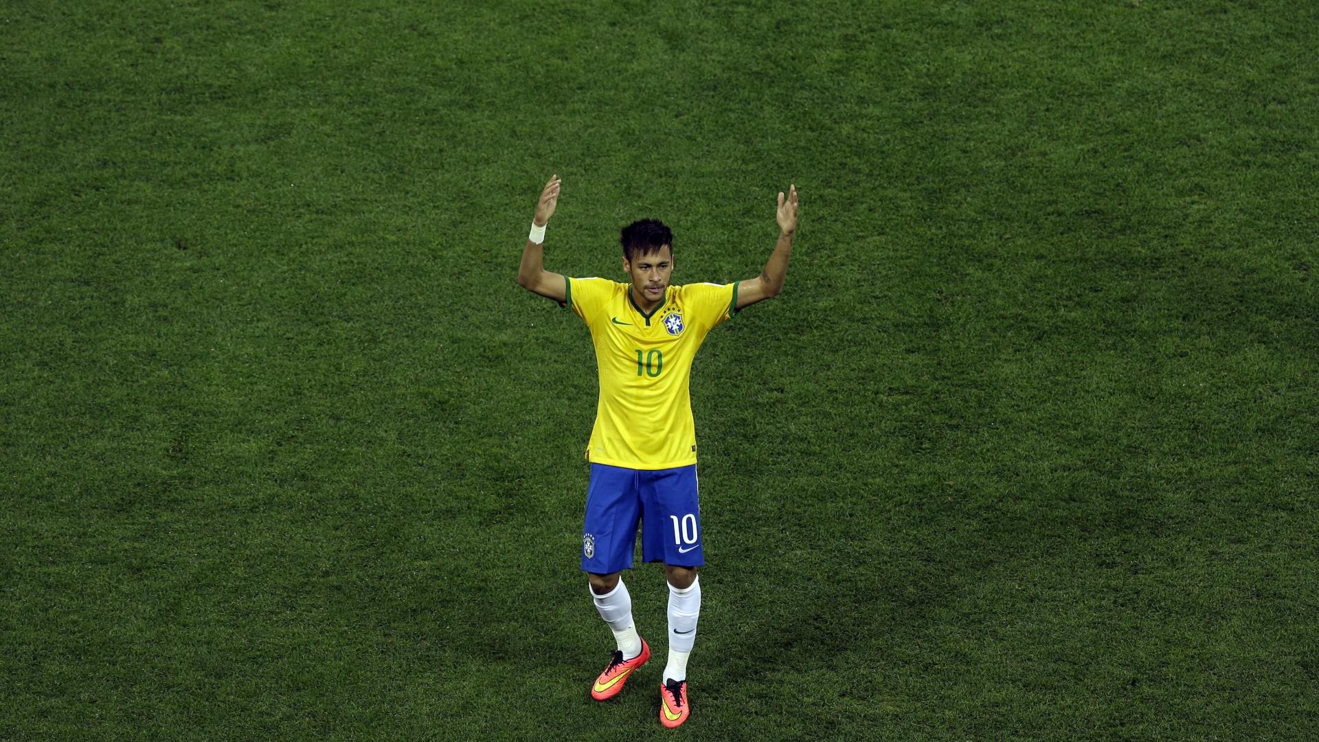 Neymar con la camiseta de Brasil - 1920x1080