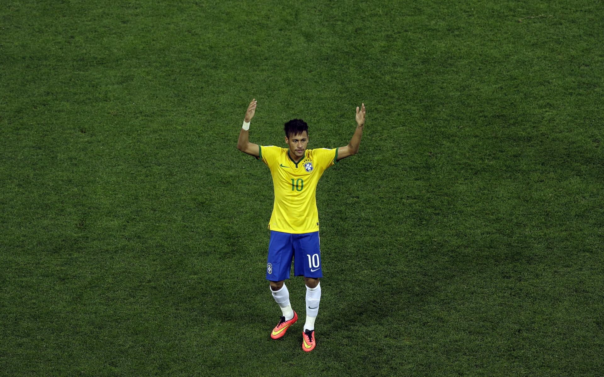 Neymar con la camiseta de Brasil - 1920x1200