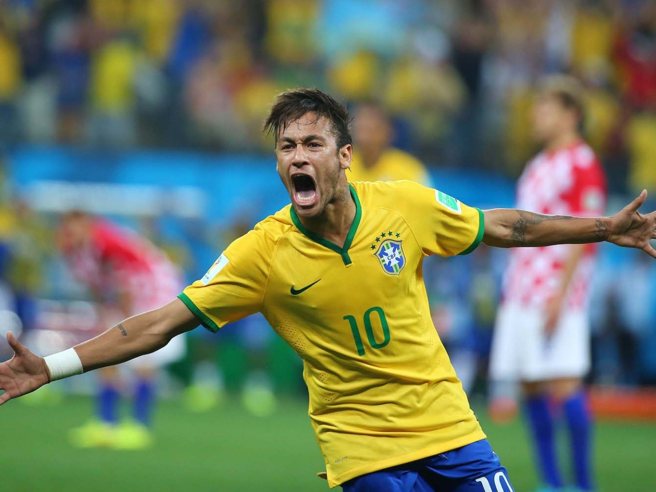 Neymar festejando gol - 1280x960