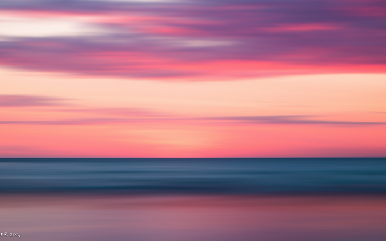 Puesta de sol como pintura - 1440x900